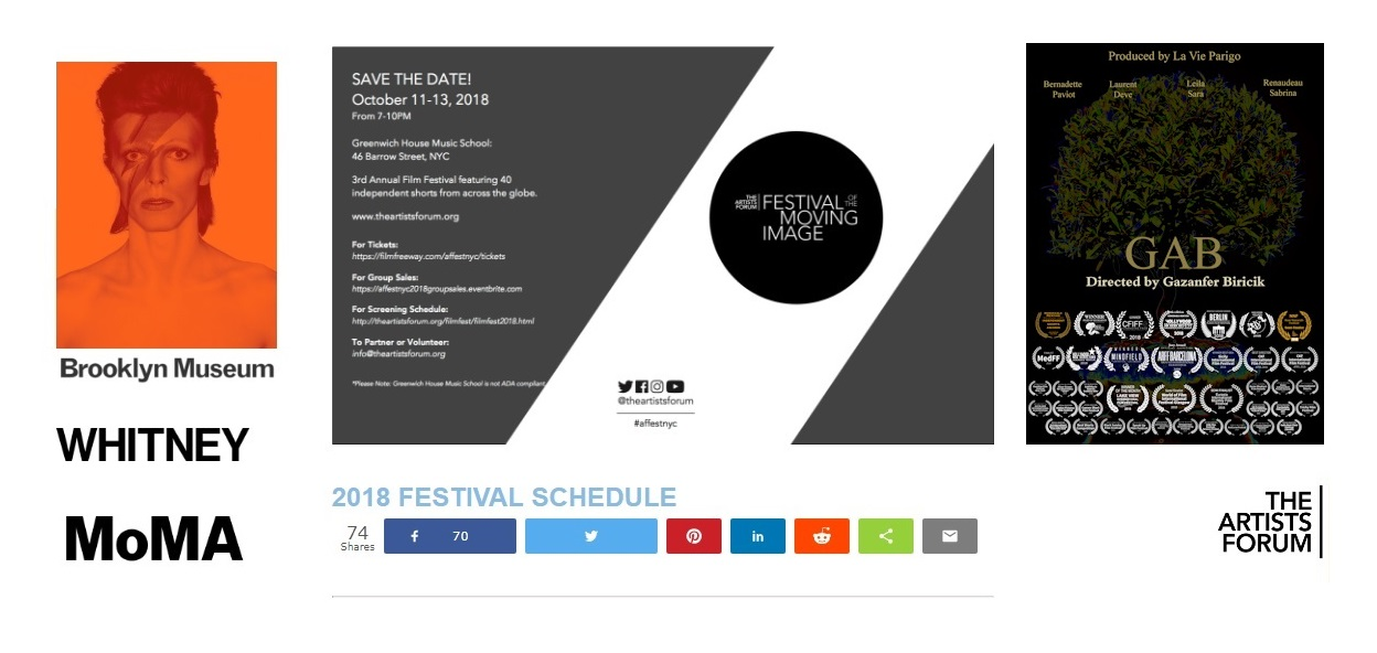 GAB selected for ARTIST FORUM (NY)