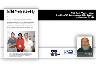 Mid-York Weekly talks about HNYIFF & Gazanfer BIRICIK in an article written by Mike Jaquays !
