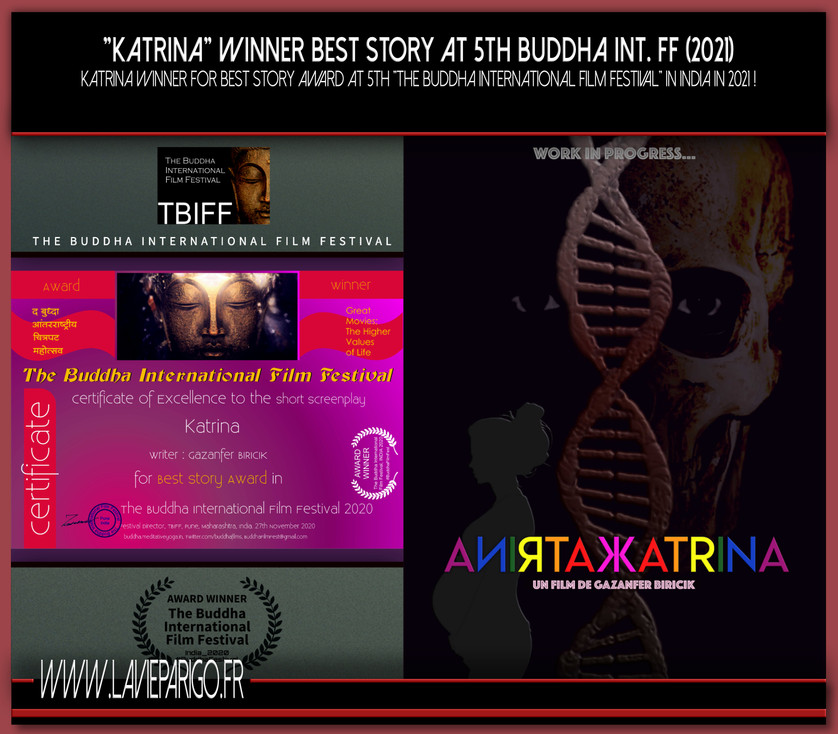 KATRINA winner Best Story Award at 5th Buddha Int. FF (2021)