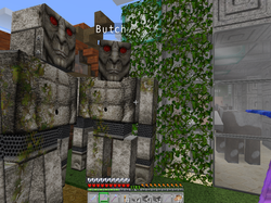 Golems protect villagers