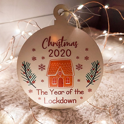 Christmas 2020 The Year of the Lockdown Bauble