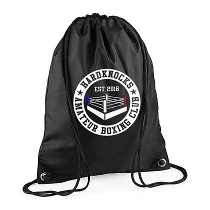 Hardknocks Amateur Boxing Club Kit - Black Drawstring Bag