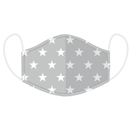 Childrens Grey Star Washable Face Covering