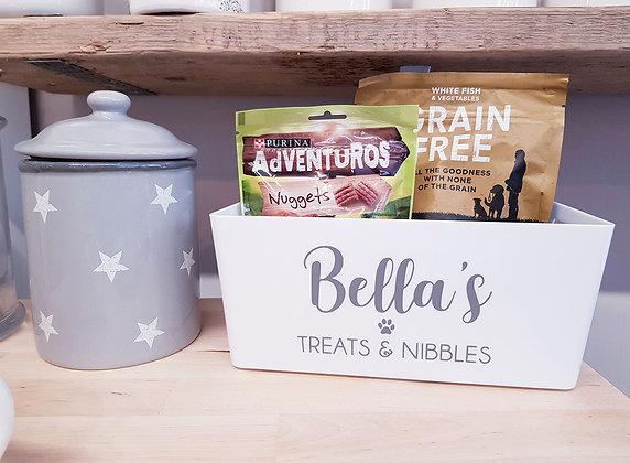 Personalised Treats & Nibbles Pet Box / Basket