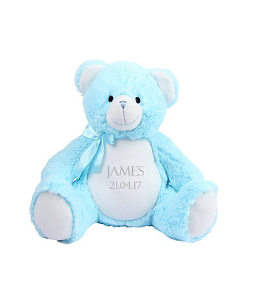 Personalised Baby Blue Teddy Bear Soft Toy