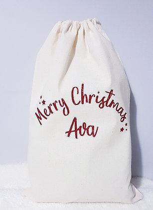 4 x Personalised Christmas Present Sacks