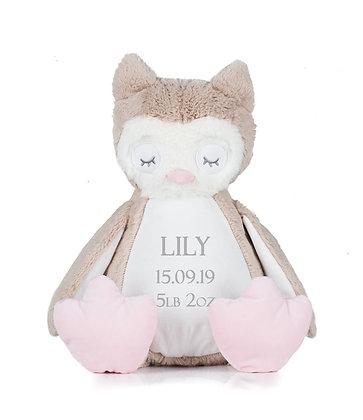 Personalised Sleepy Owl Soft Toy