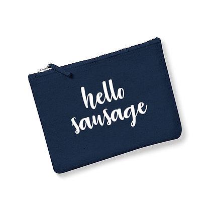 Hello Sausage Accessory Zip Bag