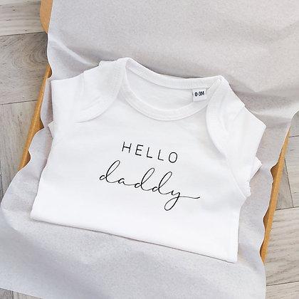 Hello Daddy Pregnancy Announcement Baby Vest