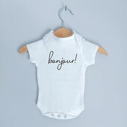Newborn Baby / Pregnancy Announcement Bodysuit Bonjour!!