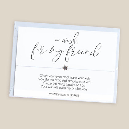 A Wish For My Friend Bracelet