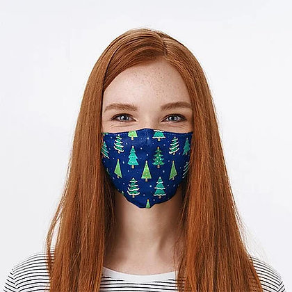Adults Adjustable Christmas Tree Washable Face Covering