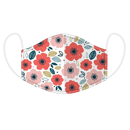 Adults Poppy/Floral Washable Face Covering