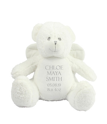 Personalised White Angel Teddy Bear Soft Toy