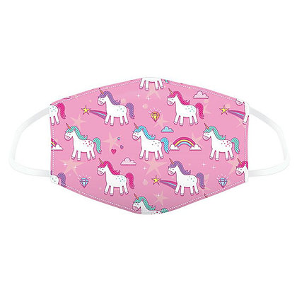 Childrens Pink Unicorn Washable Face Covering