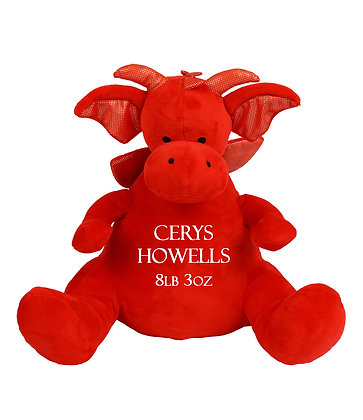 Personalised Red Dragon Soft Toy