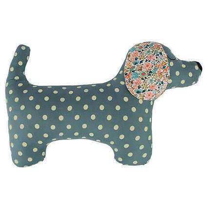 Blue Dachshund Sausage Dog Cushion