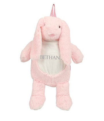 Personalised Pink Unicorn Soft Backpack
