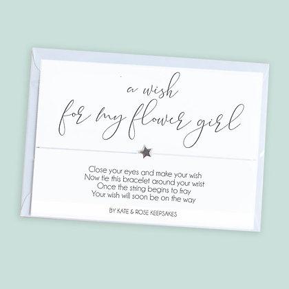 A Wish For My Flower Girl Bracelet