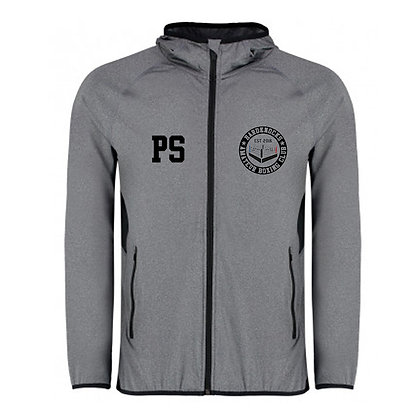 Hardknocks Amateur Boxing Club Kit - Grey Unisex Zip Sports Jacket