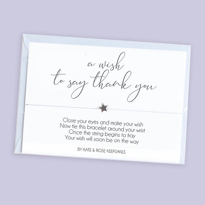 A Wish To Say Thank You Bracelet