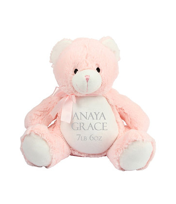 Personalised Baby Pink Teddy Bear Soft Toy