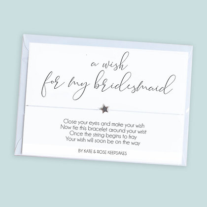 A Wish For My Bridesmaid Bracelet