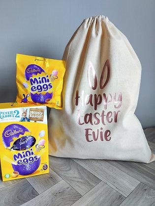 Personalised Happy Easter Bag/Sack