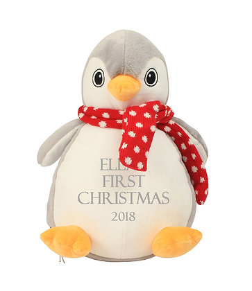 Personalised Penguin Soft Toy