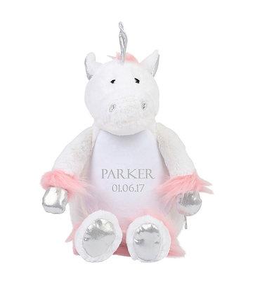 Personalised White Unicorn Soft Toy