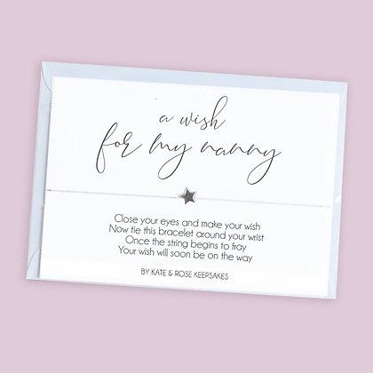 A Wish For My Nanny Bracelet