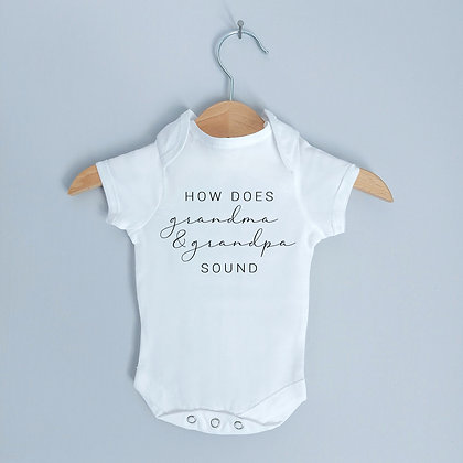 How Does Grandma & Grandpa Sound Baby Bodysuit