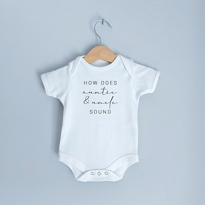 How Does Auntie & Uncle Sound Baby Bodysuit / Babygrow