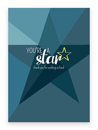 You're A Star Business Greetings Cards
