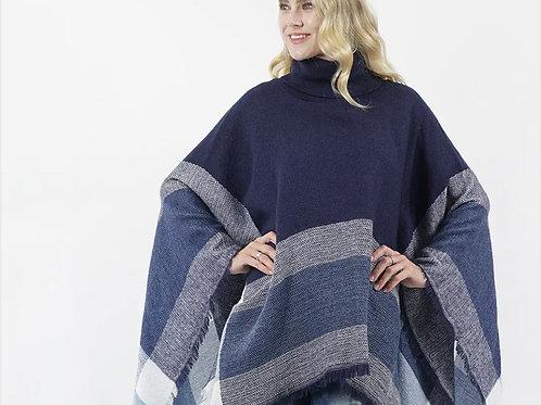 Turtle Neck Sweater Poncho