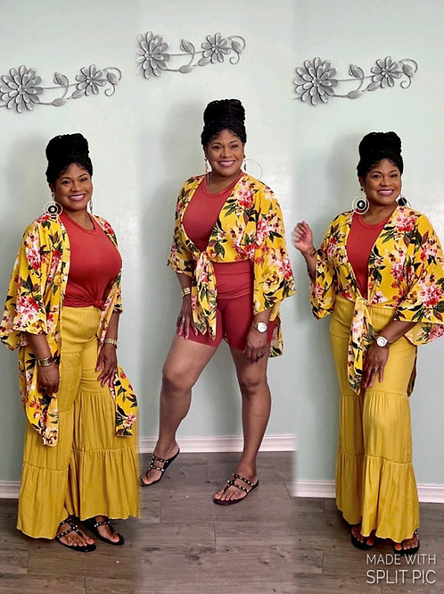 Sunflower Kimono