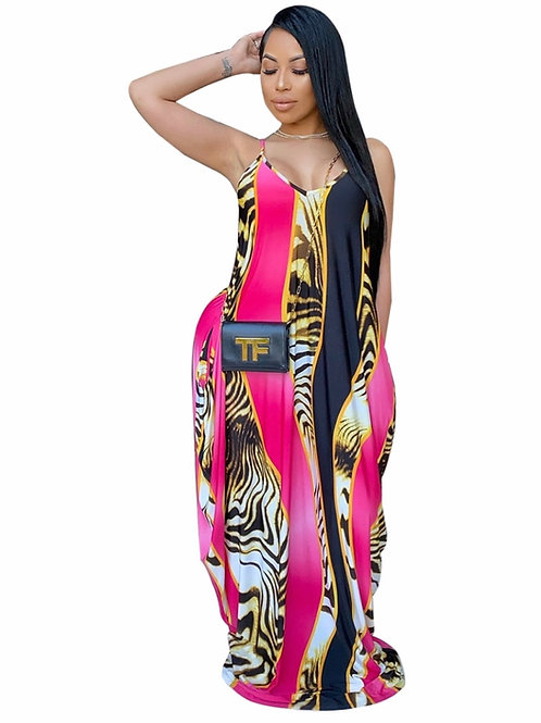Colorful Stripped Loose Maxi