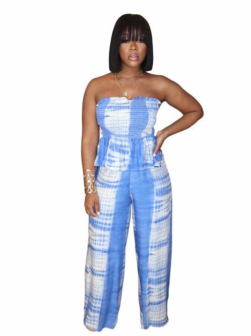 Summer Tie-Dye Pant Set