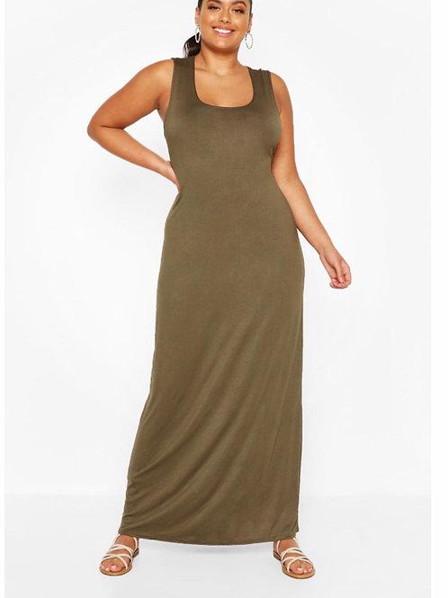 Curvy - Scoop Neck Maxi Dress