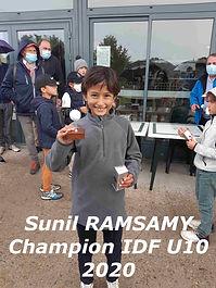 Championnat IDF U10 oct2020 Sunil Ramsam
