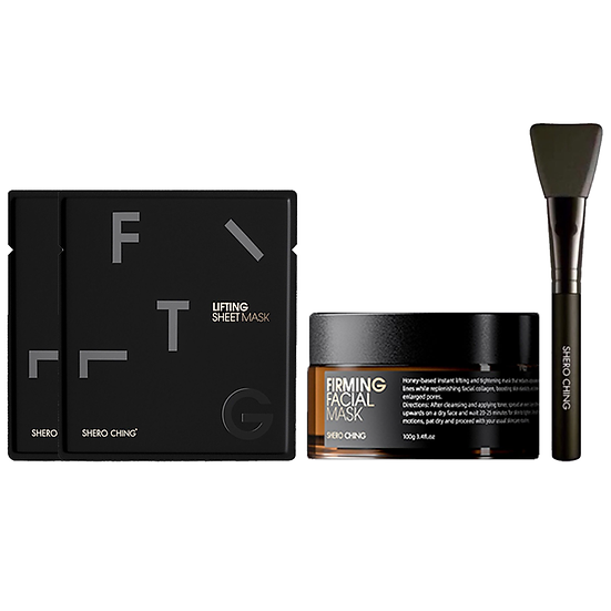 Shero Ching Limited Edition Firming Mask Black Gift Set Box