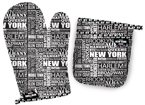 Luva e Pegador de Panela New York