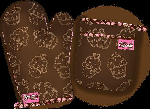 Luva e Pegador de Panela Cupcake