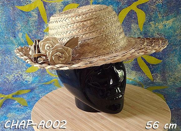 """Chapeau FEMME en Pandanus (""""Pae ore"""") - 56 cm"""