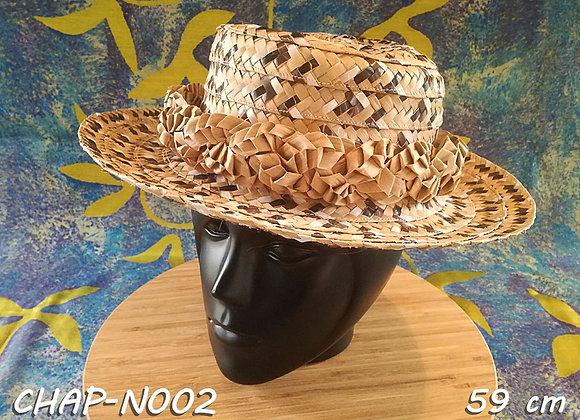 """Chapeau FEMME en Pandanus (""""Pae ore"""") - 59 cm"""