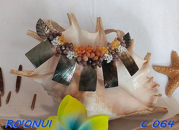 """""""RO'ONUI"""" Collier de Coquillages, Nacres et Perles"""