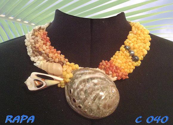 """""""RAPA"""" Collier de Coquillages et Perles"""