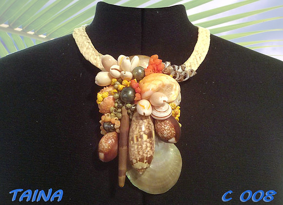"""TAINA"" collier de Coquillages et Perles"