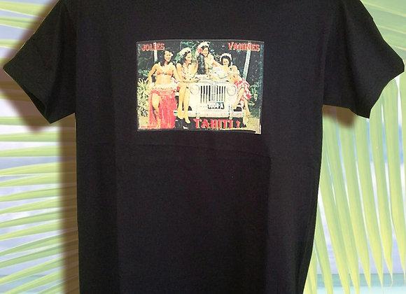 T-Shirt Mixte Noir V03 - XXL