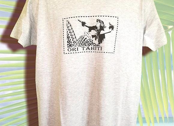 T-Shirt Mixte Blanc Chiné V10 - XXL
